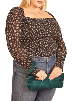 Reformation Pinto Smocked Floral Print Top (Plus Size)