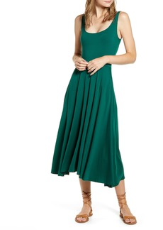 Reformation Rou Midi Fit & Flare Dress