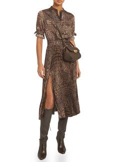 Reiss Avianna Croc Print Shirt Dress