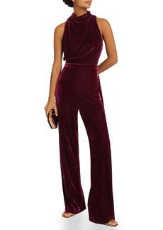 Reiss Joan Open Back Velvet Jumpsuit
