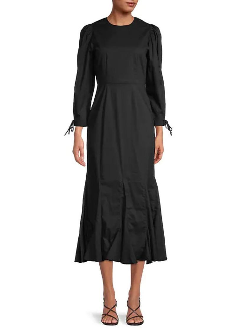 Rhode Abby Puff-Sleeve Cotton Dress