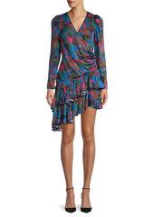 Rhode Asymmetric Floral-Print Dress