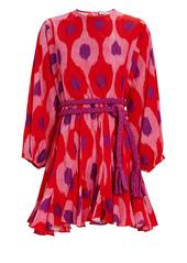 Rhode Ella Ikat Poplin Mini Dress