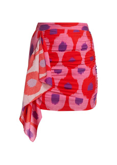 Rhode Hanna Printed Drape Mini Skirt