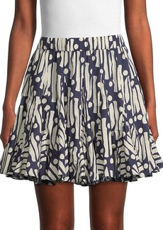 Rhode Hilary Paisley High-Waist Mini Skirt