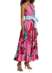 Rhode Julia Printed Halterneck Maxi Dress