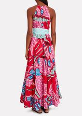 Rhode Julia Printed Poplin Maxi Dress