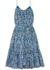 Rhode Lea Tiered Floral-print Cotton-poplin Mini Dress