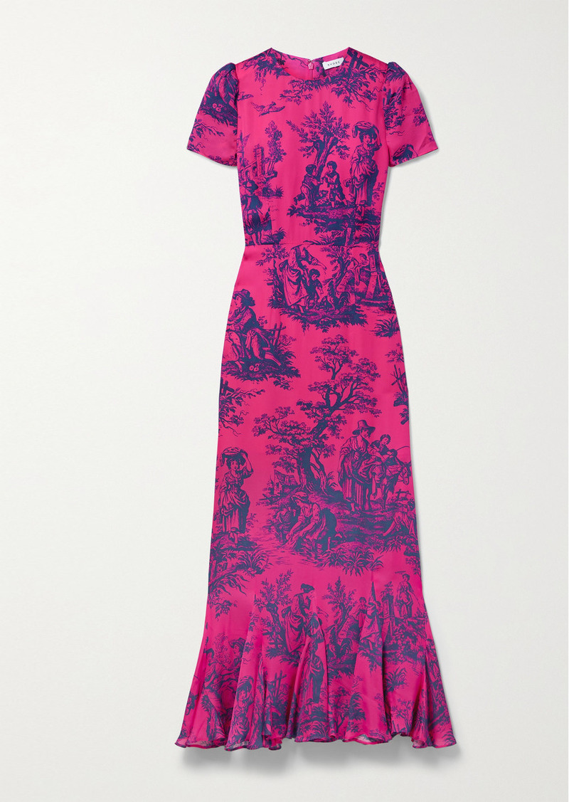 Rhode Lulani Printed Crepe Dress