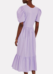 Rhode Nisha Cotton Poplin Midi Dress