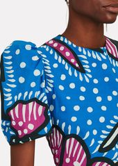 Rhode Nisha Printed Poplin Midi Dress