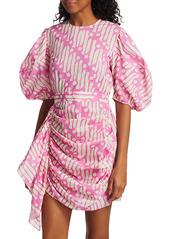 Rhode Pia Puff-Sleeve Cotton Dress