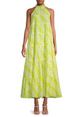 Rhode Print A-Line Midi Dress
