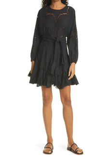 RHODE Ella Long Sleeve Eyelet Dress