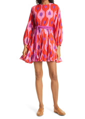 RHODE Ella Print Long Sleeve Cotton Dress