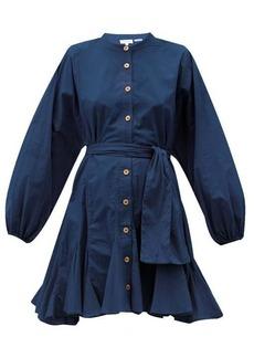 RHODE Emma balloon-sleeve cotton-poplin dress