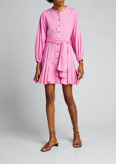 Rhode Emma Dolman-Sleeve Button-Front Dress