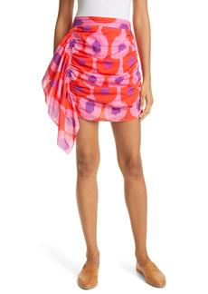 RHODE Hanna Side Ruched Miniskirt