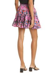 RHODE Hilary Dot Print Miniskirt