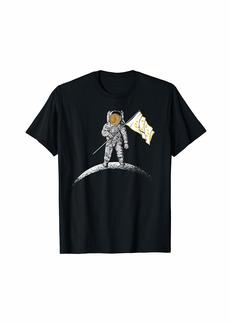 Rhode Island Flag Rhode Islander Moon Landing T-Shirt