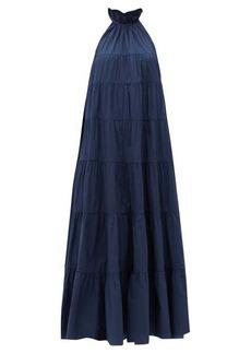 RHODE Julia ruffled cotton-poplin dress