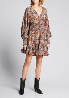 Rhode Olivia V-Neck Mini Dress