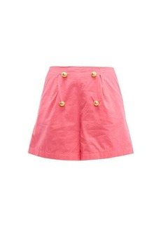 RHODE Reese high-rise cotton-voile shorts