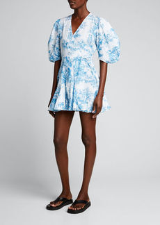 Rhode Rosie Heart-Print Wrap Dress