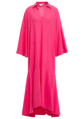 Rhode Woman Gia Cotton Midi Shirt Dress Fuchsia