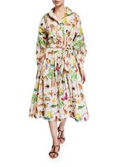 Rhode Sana Printed Animals Midi Dress