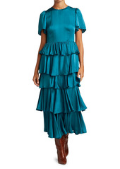 Rhode Serena Ruffle Midi Dress