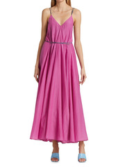 Rhode Sophia Tie-Waist A-Line Maxi Dress