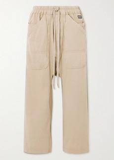 Rick Owens Appliquéd Cotton-jersey Track Pants