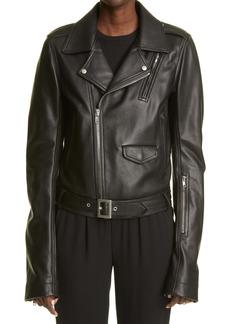 Rick Owens Women's Lukes Stooges Leather Biker Jacket