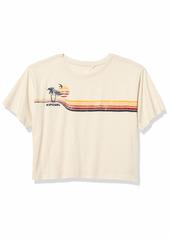 Rip Curl Junior's Golden Days Crop TEE Shirt  L