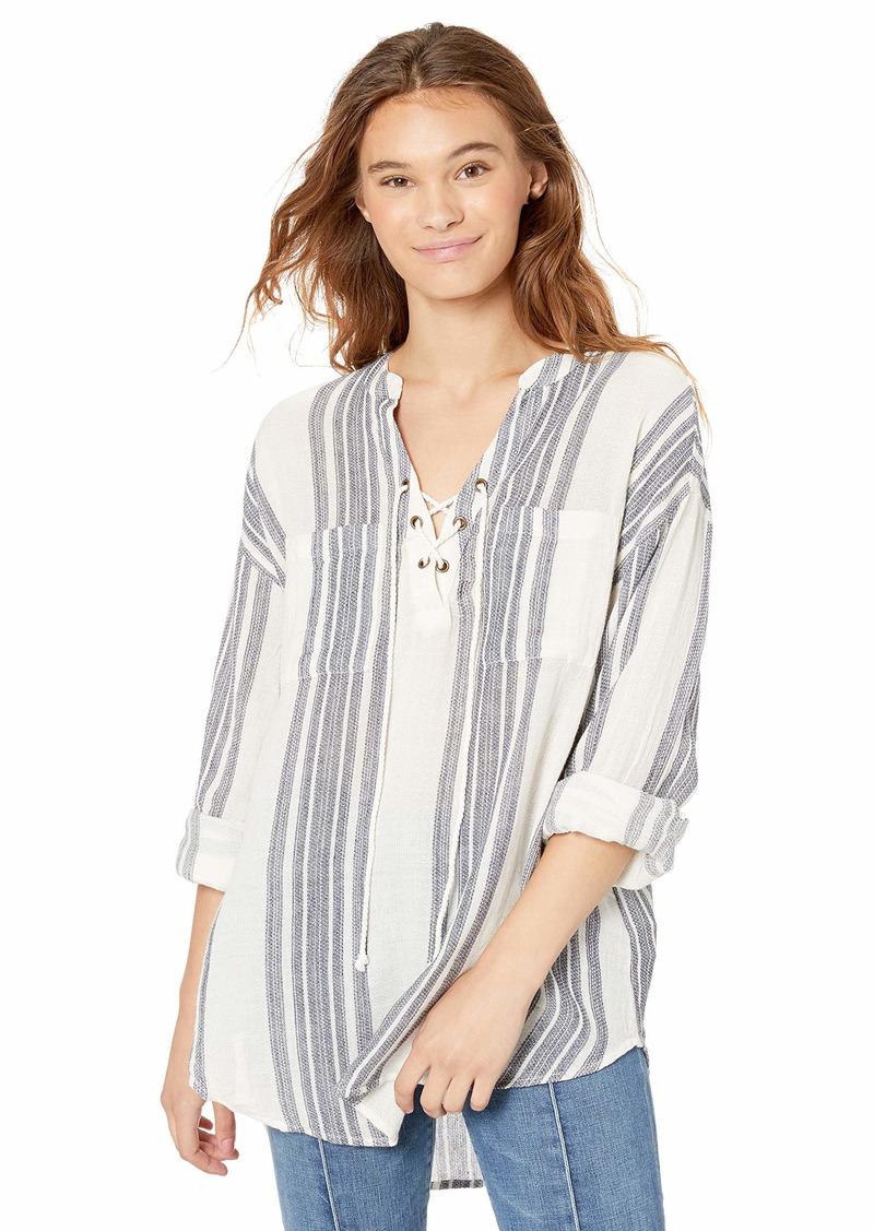 Rip Curl Junior's Seaside Stripe Beach Shirt  L