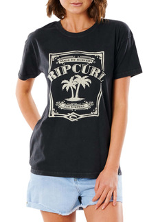 Rip Curl Panoma Oversize Roll Cuff Graphic Tee