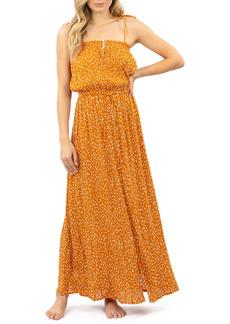 Rip Curl Safari Sun Abstract Dot Crepe Maxi Dress