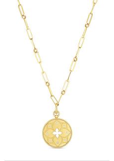 Roberto Coin Venetian Princess Diamond Medallion Necklace