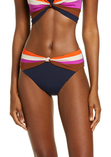 Robin Piccone Billie High Waist Knot Front Bikini Bottoms