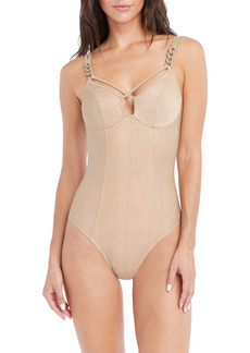 Robin Piccone Eve Crisscross Strappy Underwire One-Piece Swimusit