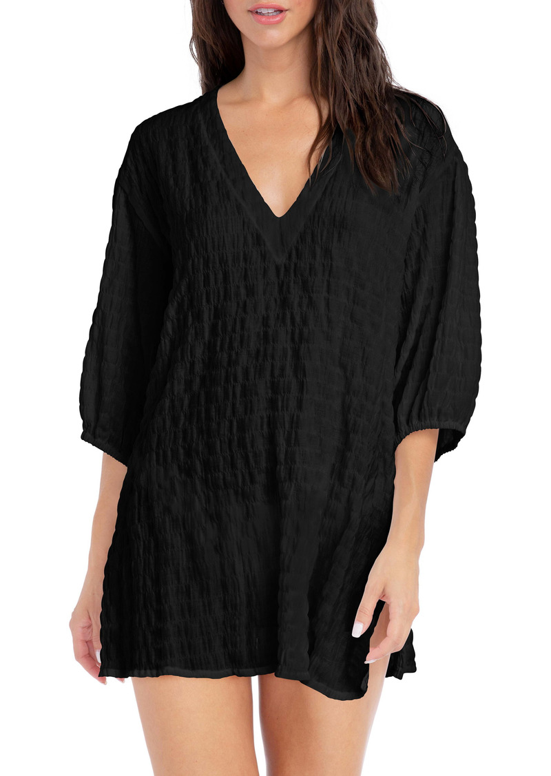 Robin Piccone Fiona Puff Sleeve Cover-Up Tunic
