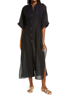 Robin Piccone Michelle Mandarin Collar Cover-Up Caftan