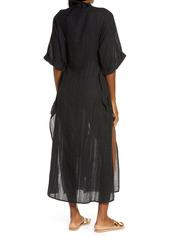 Robin Piccone Michelle Mandarin Collar Cover-Up Caftan