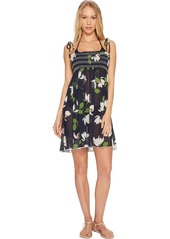 Robin Piccone Women's Elisa Smocked Cover-up Dress  M