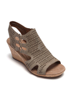 Women's Rockport Cobb Hill Janna Perforated Wedge Sandal