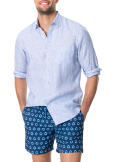 Rodd & Gunn Bay of Plenty Stripe Linen Button-Up Shirt
