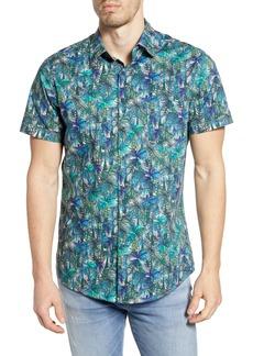 Rodd & Gunn Collins Bay Tropical Print Short Sleeve Button-Up Shirt
