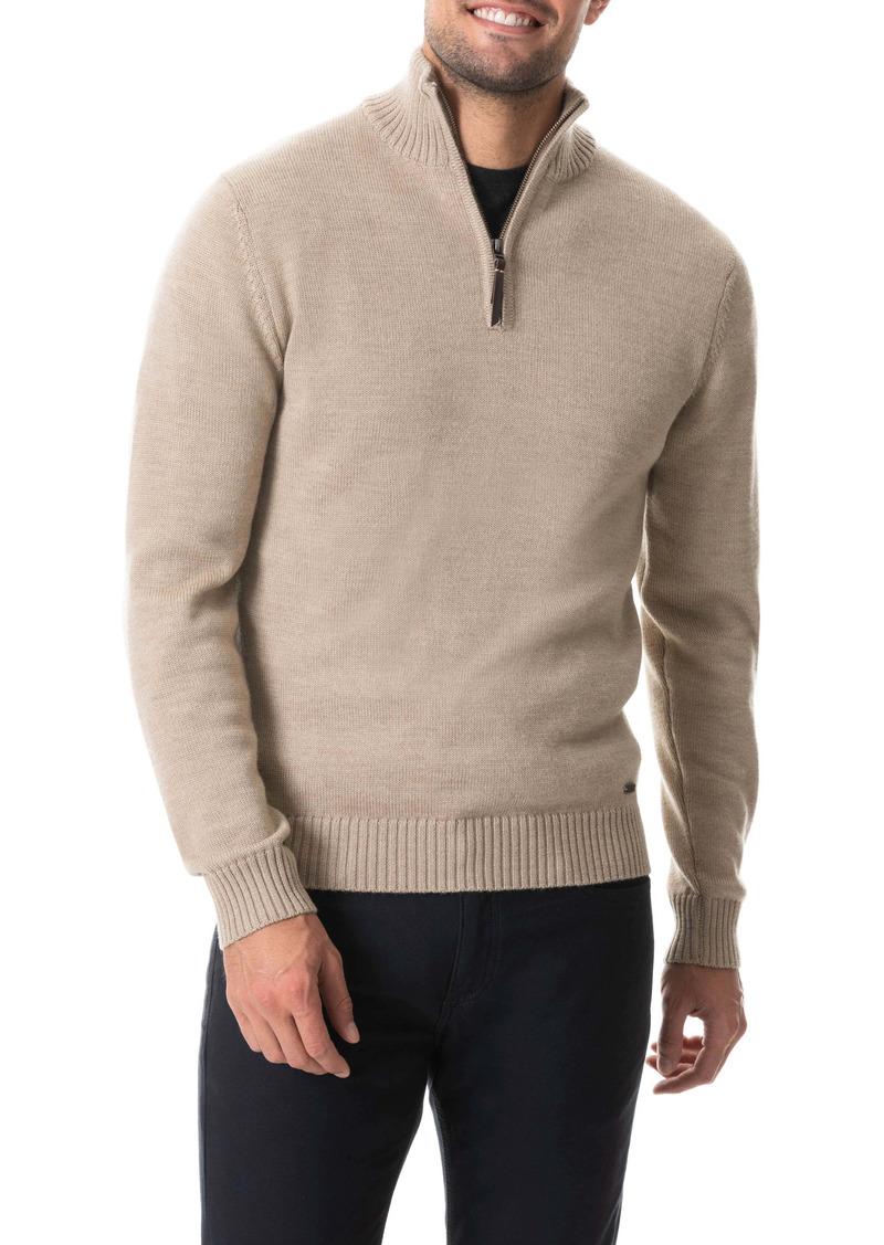 Rodd & Gunn Dannemore Quarter Zip Wool Sweater
