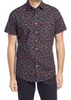 Rodd & Gunn Masterton Sports Fit Print Short Sleeve Button-Up Shirt